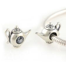 Aladdin-Lampada Magica-GENIE-Originale Massiccio 925 argento Sterling Charm Bead Europeo