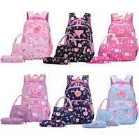 3Pcs Waterproof Girl School Bags For Teenagers Backpack Shoulder Bag Rucksack