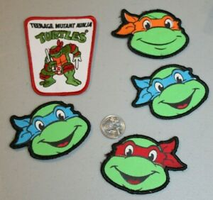 5 VTG TMNT Power Patch Collector's Edition Raphael + Turtle Heads Leo Mikey Don