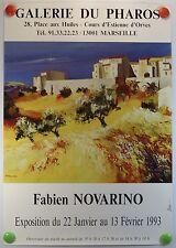 Fabien NOVARINO expose à la Galerie du Pharos à Marseille AFFICHE ORIGINALE/8bPB