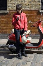 Armadillo Scooterwear Funnel Neck Red Ladies Motorcycle Scooter Jacket NEW