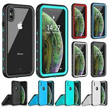 For iPhone Xs Max XR / X Case Cover Waterproof Shockproof with Screen Protector