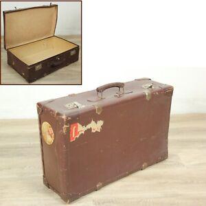 Vecchia Valigia vintage in cartone bagaglio anni ' 60 italian old suitecase
