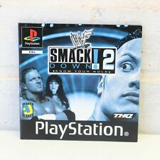 INSTRUCTION MANUAL FOR SONY PS1 PSONE PLAYSTATION SMACKDOWN 2 GAME