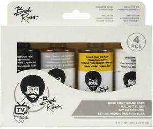Bob Ross Base Coat Oil Painting Value Pack 4 x 100ml