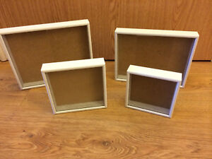 Picture frame / box - 1 inch deep frames, painted white wood -handmade - NEW