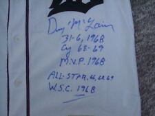 Denny McLain AUTOGRAPH DETROIT TIGERS MITCHELL & NESS COOPERSTOWN JERSEY SIGNED