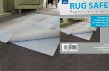 Non Slip Rug Safe Mat Gripper Underlay Rug to Carpet Anti Skid 65 CM x 95 CM