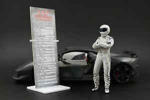 The white dirty STIG (2) Figura per 1:18 Autoart Ford GT40 BBR RARE
