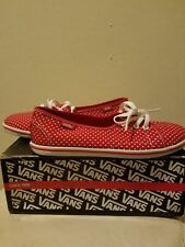 Van's shoes size 2.5 red with white polka dots Brand New