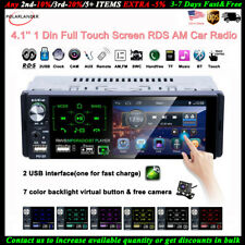 4''1 Din Car Radio Full Touch Screen 2 USB Bluetooth RDS MP5 Player AM FM Camera