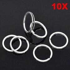 "Lot 10 Pcs 25mm 1"" Nickel Silver Color Keychain Rings Split Key Ring DIY"