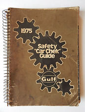 Vintage 1975 Gulf Oil Safety Car Check Shop Manual Guide /  Book Complete Used