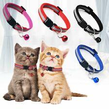 2Pc Nylon Dog Puppy Cat Collar Hi-Vis Adjustable Reflective Collar Safety Bell