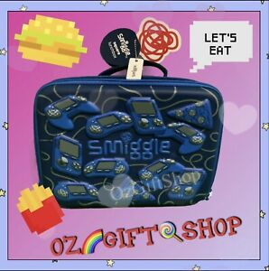 Smiggle Game & Pizza Theme Hardtop Lunch Box - Brand New 🎮🍕