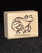 Stampin Up All Wrapped Up Stamp Single Frog Toad Water Animal Pond Lake Critter