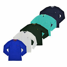 Polo Ralph Lauren Mens T-Shirt Waffle Knit Thermals Crew Neck Long Sleeve New S