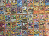 POKEMON CARD LOT 100 AUTHENTIC CARDS - GUARANTEED 1 EX/GX & HOLOS & RARES! TCG