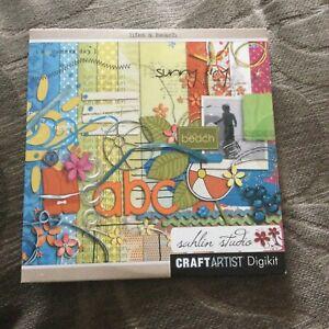 Life's A Beach - Sahlin Studio - Craft Artist Digikit - Serif Cd Rom Scrapbook
