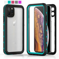 For iPhone 11 12 Pro Max IP68 Waterproof Hybrid Rubber Armor Case 360 Full Cover
