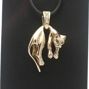 Panther Anhänger 585 Gold Raubtier Raubkatze Tier 14 kt Gelbgold Wert 1300,-