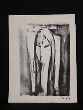 Barkev Djiboghlian (1928) Ensemble de trois estampes Monotypes ? dont portrait