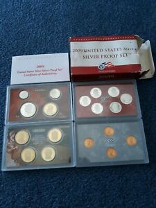 COMPLETE 2009 SILVER PROOF SET  18 COINS