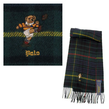 Polo Ralph Lauren Mens Kicker Bear College Scarf Green Multi One size PC0397354