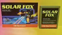 Atari 2600 Solar Fox Game & Instruction Manual Tested Works Rare