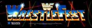 """WWF Wrestlefest Arcade Marquee – 26″ x 8″ (Available in 27"""" x 8"""")"""