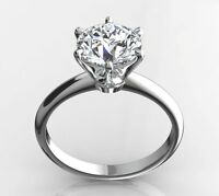 1.60 CT ROUND EX CUT E/SI1 DIAMOND SOLITAIRE ENGAGEMENT RING 14K WHITE GOLD