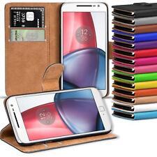 Book Case Motorola Lenovo Moto Hülle Handy Tasche Klapphülle Schutz Flip Cover
