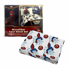 Marvel SpiderMan 3 Piece Microfiber Twin Sheet Set Flat,Fitted Sheets Pillowcase