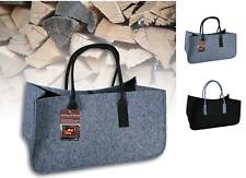 Fireplace Felt Bag Wood Basket With Handle Stand Shoulder Bag Magazine Rack