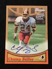 HOF CHAMP BAILEY 1999 BOWMAN ROOKIE CERTIFIED SIGNED AUTOGRAPHED CARD #A9