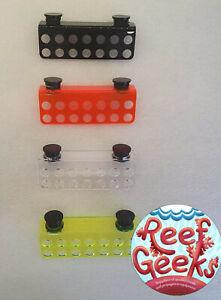 Magnetic Frag rack, 14 hole*NEW ACRYLIC FRAG RACK**. Zoa,coral frag plug.