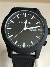 Lacoste Men's 12.12 Black Contact Smart Watch S-Steel Case Android.