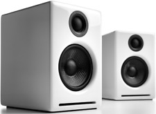 Audioengine A2+ Active Speakers PAIR - WHITE Bluetooth Computer PC Wireless USB