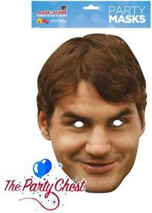 ROGER FEDERER CARD FACE MASK Celebrity Wimbledon Tennis Icon Star Face Mask