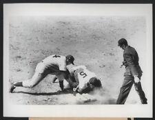 1956 Orig Baseball Press Photo - Tuttle Safe