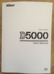 NIKON D5000 Manual - Printed & Professionally Bound Size A5 - NEW 238 Pages