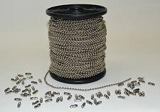 Nickel Plated Ball Chain with Joiners for Roller Holland Blinds per metre