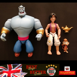 Aladdin Genie Abu Official Disney Store Figures with Lamp Immaculate