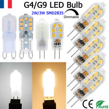 10Pc Bi-Pin Base G4 G9 LED Ampoule Remplace 20W Halogène Dimmable 110-220V Lampe