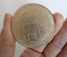 EASTERN BAND OF CHEROKEE NATION NORTH CAROLINA CASINO GAMING 5 DOLLAR COIN/TOKEN