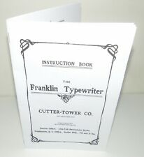 Franklin Typewriter Instruction Manual Reproduction