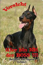 DOBERMANN - A4 Metall Warnschild SCHILD Hundeschild Alu Türschild - DBM 15 T7