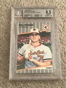 1989 Fleer Baseball 616 Bill Ripken ERROR Card BGS 8.5 Rick F Face 9.5 Sub-Grade