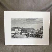 1890 Antik Aufdruck Alt Strasse Salz See Stadt Utah Americana Original Victorian