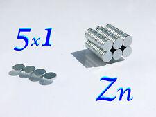 100 CALAMITE N42 MAGNETI NEODIMIO 100  pezzi zinco   5x1 mm  POTENTI magnete.
